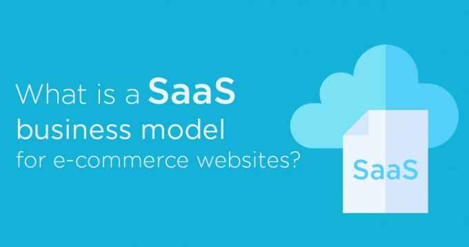 What is an SaaS business model for e-commerce websites?
