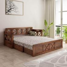 Sofa Cum Beds - Buy Sheesham Wood Sofa Cum Beds Online In India