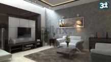 3D Interior Rendering Services | Living room | Kitchen | Bed room