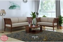 Wooden Sofa Upto 55% OFF: Buy Wooden Sofa Set Online in India at Best Price - PlusOne India