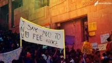 JNU students march towards Parliament over fee hike; police intervenes