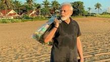 PM Modi promotes plogging; picks garbage at Mamallapuram beach