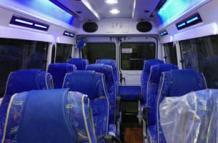 luxury Maharaja seater tempo traveller hire on Rent in Delhi
