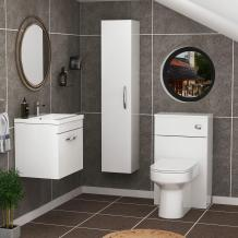 Get the Most Out of Your Bathroom with White Wall Hung Vanity Unit | Mdirk