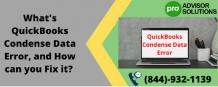 What's QuickBooks Condense Data Error, and How can you Fix it? - Peter Adams | Launchora