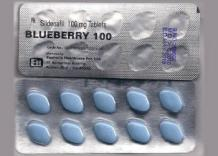 Buy Sildenafil Blueberry 100 mg Tablets for Poor Erection