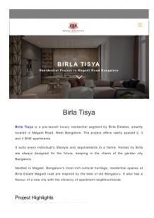 tisya birla estates Online Presentations Channel