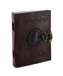 Blue Stone Embossed Leather Notebooks