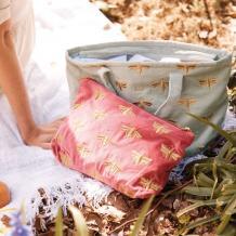 Bumblebee Sage Green Velvet Day Bag
