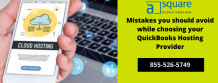 Mistakes you should avoid while choosing your QuickBooks Hosting Provider: – Cloud Hosting Services