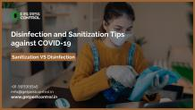 Disinfection and Sanitization Tips against COVID-19