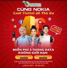Miễn phí 3 tháng gói cước Viettel khi mua điện thoại Nokia 215 4G, 6300 4G, 8000 4G