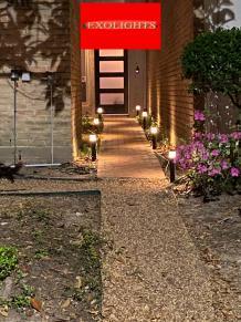 Exterior Lighting Houston   Modern Decorative Lighting   Residential Outdoor Lighting   Exo Service