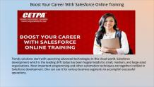 Boost Your Career With Salesforce Online Course At CETPA