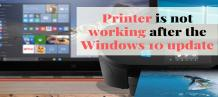 Printer not working after Windows 10 update