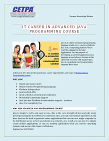 IT Career in Advanced Java Training Course in Noida