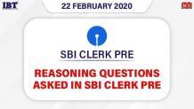Reasoning Questions Asked in SBI Clerk Prelims 2020