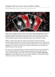 Engaged With Luck Stars Casino Starburst Offers   authorSTREAM
