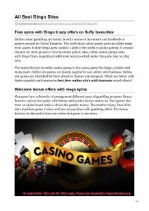Free Spins With Bingo Crazy Offers on Fluffy Favourites  |authorSTREAM