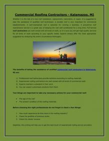 Commercial Roofing Contractors - Kalamazoo, MI