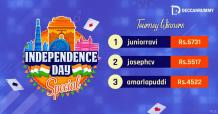 Independence Day special tourney Winners | Deccan Rummy