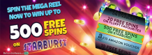 The advantage of opting for 500 free spins