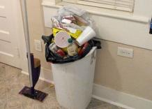 Keep Your Kitchen Trash Can Clean