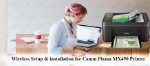 setup canon pixma mx490 printer