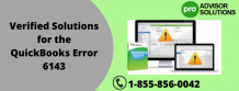 Verified Solutions for the QuickBooks Error 6143