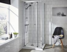 700 x 760 corner entry shower enclosure creates elegance in the bathroom