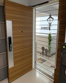 In-House Laminate Solid HDB Main Door Single Leaf