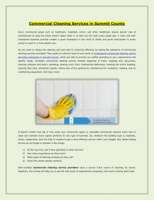 Commercial Cleaning Services in Summit County