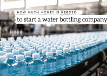 How much money is needed to set up a water bottling company?