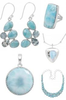 Larimar Stone Jewelry
