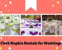 Rent Cloth Napkin to Decorate Wedding Venue