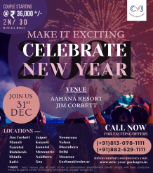 Aahana Resort New Year Packages | New Year Packages near Delhi