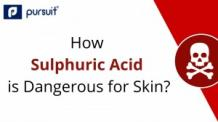 What happens if sulfuric acid spills on one's skin?