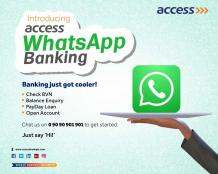 Access Bank WhatsApp banking: How use it to Transfer Money,Pay Bills,buy Airtime AND balance enquiry - How To -Bestmarket