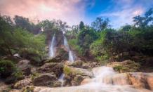 Pesona wisata alam air terjun Sri Gethuk yang eksotis di Gunung Kidul Jogja