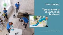 Tips to start a disinfecting business