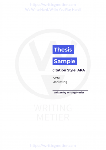 Thesis Writing Help   We CAN Write a Thesis for You