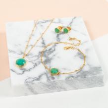Barcelona May Birthstone Necklace Chrysoprase