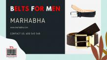 Choose a Durable and Stylish Belt for Men Online