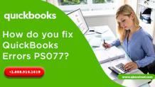 How to Fix QuickBooks Error PS077 using simple methods?