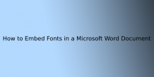 How to: Embed Fonts in a Microsoft Word Document   ITechBrand.com