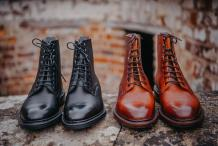 Men's handmade leather boots by Barker