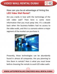 Benefits of LED Video Walls rental dubai for Indoor Use