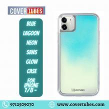 Blue Lagoon Neon sans Glow Case -  covertubes.com - Best Mobile Cover For Iphone 7/8