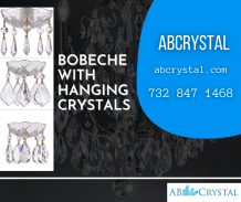 Bobeche With Hanging Crystals
