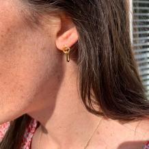 Bramerton Gold Vermeil Heritage Rectangle Earrings